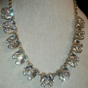 J.Crew Gold, 'Crystal Tulip' Statement Necklace